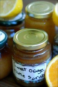 Homemade Citrus Body Scrub