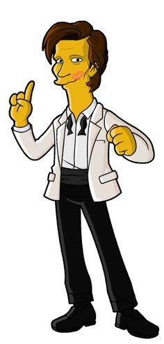 Dean of Springfield Punx has been drawing Doctor Who characters in Simpsons style every Tuesday for ages, this is his last one. Awesome