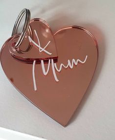 Party Gift Bags, Party Gifts, Party Favours, Personalised Gift Shop, Opening An Etsy Shop, Christmas Gifts To Make, Rose Gold Mirror, Heart Keyring, Felt Hearts