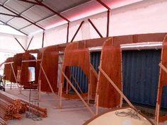 DH550 radius chine plywood catamaran