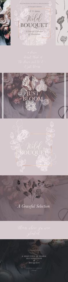 Wild Bouquet Wedding Illustrations by Laras Wonderland on @creativemarket