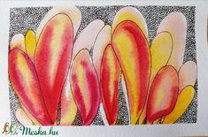 A korallok különleges formái inspirációként szolgálhatnak a képzőművészetben. Ezen akvarell képek alapjait a vízi élővilágból nyertem és absztraktabb módon dolgoztam át. Igyekeztem egyfajta fantáziadús világot megteremteni. A színek nyárias hangulatot idéznek, ezáltal tökéletesen feldobják az otthonunkat!  A képeket akvarellpapírra készítettem akvarelltechnikával és tussal átdolgozva. Egy kép mérete 10 x 15 cm. Lehet őket együtt ill. külön is rendelni. Photo And Video, Instagram