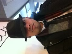 Dapper hat? At the Evansville airport waiting to leave.