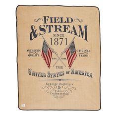 Field and Stream Americana Sherpa Reversible Throw