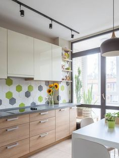 Kitchens] Subway tile is a classic that never fails in the Scandinavian setting [Design: Bask Subway Tile Kitchen, White Kitchen Cabinets, Small White Kitchens, Scandinavian Kitchen, Minimal Design, Decor Styles, Kitchen Design, Ikea, Romantic