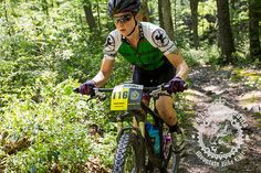 Andrea Wilson making her way through the forest early in the stage. 2013 Trans-Sylvania Epic