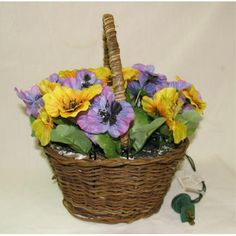 Lighted Pansy Flower with
