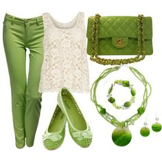 """Green pants outfit"" by esperanzandrea on Polyvore"