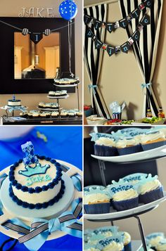 Having a theme makes party planning easier and more fun!If your son's birthday is coming up, check out our list of 43 Dashing DIY Boy First Birthday Themes. Prince Birthday Theme, First Birthday Party Themes, Birthday Themes For Boys, Baby Boy 1st Birthday, First Birthday Cakes, Birthday Ideas, Birthday Decorations, Prince Party, First Birthdays