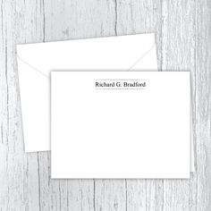 Men's Personalized Note Cards - In Between the Lines Web Address, Small Letters, Personalized Note Cards, White Envelopes, Texts, Card Stock, I Shop, Notes, Prints