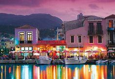 Dusk on the Isle of Crete, Greece