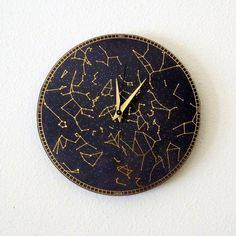 Constellation Wall Clock, Home and Living, Astrology, Astronomy Clock, Decor & Housewares, Wall Decor, Unique Gift on Etsy, $57.00