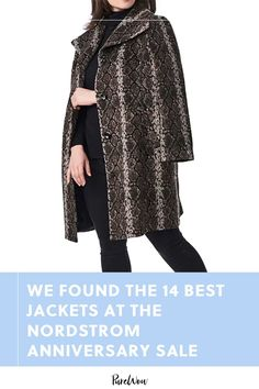 One of the best things about fall is the return to jacket weather. Here are 14 on major sale at Nordstrom this month. #best #jackets #nordstrom Faux Shearling Coat, Leather Trench Coat, Faux Fur Jacket, Camel Style, Wrap Style, My Style, Oversized Jeans, Nordstrom Anniversary Sale