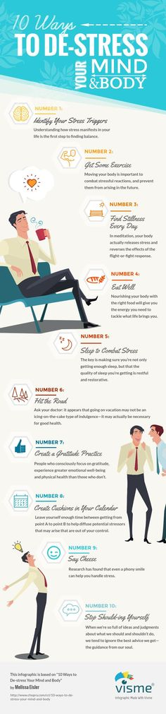 Infographic: 10 Ways to De-Stress Your Mind and Body