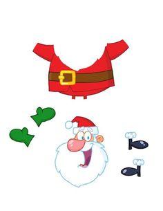 Boże Narodzenie – wycinanka Święty Mikołaj 2