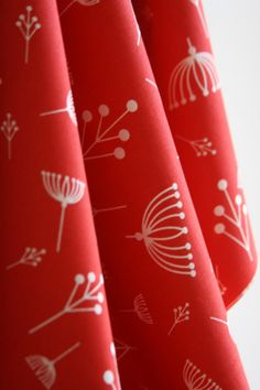 Organic Twigs in Tomato by Designer Charlie by SewFineFabric, $4.00