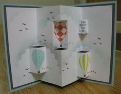 Up, Up & Away pop-up card w/ instructions