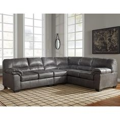 Bladen 3 Piece Faux Leather Sectional