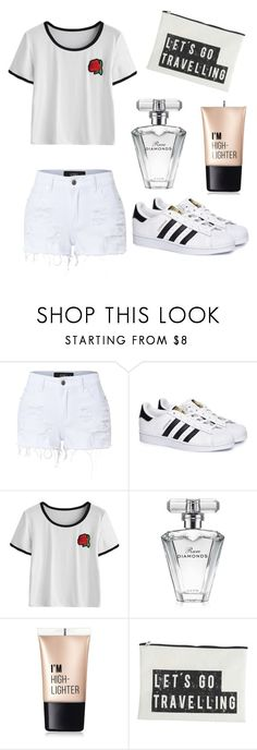 """Untitled #148"" by lenka-skodiova on Polyvore featuring LE3NO, adidas, Avon, Charlotte Russe and House Doctor"