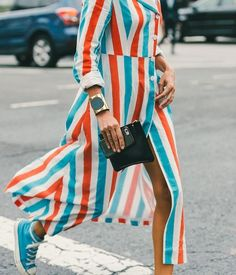A 70's style set. // The Best Street Style Inspiration From NYFW: (http://www.racked.com/2015/9/11/9309889/nyfw-street-style#4829912)