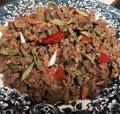 Made some bopis ... I just used beef heart, ground beef, beef liver, radish, carrots and bell pepper!