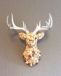 Sea Pottery Stag, Scottish Sea Pottery Stag, Brown Sea Pottery, Stag Mosaic, Stag Ornament, Mosaic Stag, Stag Art by DaisysDriftwood on Etsy https://www.etsy.com/uk/listing/487345208/sea-pottery-stag-scottish-sea-pottery