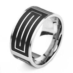 LOPEZ KENT 10MM Stainless Steel Men's Ring Wedding Band