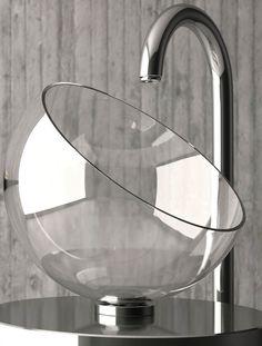 Glass Design Bath Sink Moon Above Counter – at Improve Canada vendor Canaroma Bath & Tile