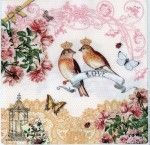 Decoupage Paper Napkins | Love Birds Roses Butterflies | Paper Napkins for wedding