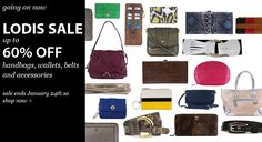 Lodis Sale! Now til 1/24. Up to 60% off handbags, wallets, belts and accessories.