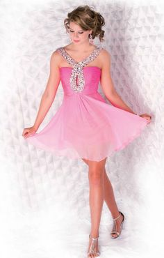 would be a realllllyyy cute homecoming dress, but if it was longer prom:)