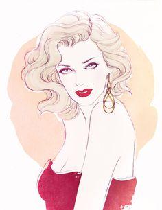 Bea Almeda Make Up - Soleil Ignacio Illustrations  http://choleil.com