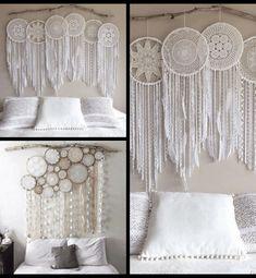 Cabeceros de Cama: Encuentra aquí + 50 Diy para hacer el tuyo propio Deco Boheme, Crochet Mandala, Ideas Para, Boho Chic, Diy And Crafts, House Design, Curtains, Bedroom, Headboards