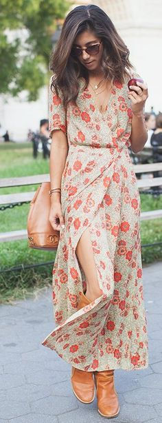 #fall #thistimetomorrow #outfits | Floral Maxi Dress