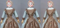 For the collector who seeks out extremely rare and beautiful early dolls of superb caliber, this beautiful parian lady is ready to make a sweeping