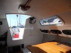 Sailboat Interior, Small Sailboats, Sail Boats, Queen Anne, Yachts, Sailing, Cabin, Interiors, Sea
