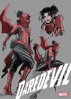 Daredevil Suit, Daredevil Matt Murdock, Daredevil Elektra, Marvel Comic Books, Marvel Comics, Costume Rouge, David Mack, Elektra Natchios, Story Arc