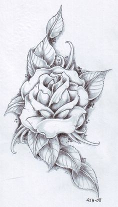 Black and gray Rose by vikingtattoo on @DeviantArt