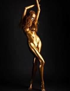All that glitters really is #gold - FREE Download - The Big Book of Body Painting http://naturaldailypost.com/?page_id=1356