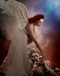 angel graphic Redheaded