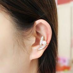 Pearl Ear Cuff  Tiny Earring  Cartilage Ear by SusyDeMarchiJewelry