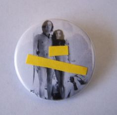 John and Yoko button by Portable Graffiti, via Flickr