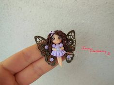 Polymer Clay Chibi - makes me want to learn to play with clay! I'm obsessed with her...I want a whole family of them!
