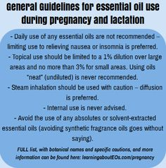 Essential Oil Safety During Pregnancy and Breastfeeding