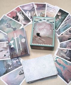 Really love the feminine whimsy of this deck. Each card is gorgeous. A lot of thought went into each one. Even the back of the cards is meticulously planned sacred geometry!  The Cards — The Starchild Tarot