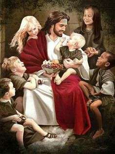 Aww this is the perfect replica of Jesus Christ caring 4 the lil children