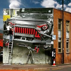 Looks like the B1850 got a Wall Mural! This would be a sight to see in person @urban_jeep_outfitters! #fabfours #fabfoursinc #fabfoursbumpers #jeep #jeeps #jeepnation #jeeplife #jeepbeef #itsajeepthing #art