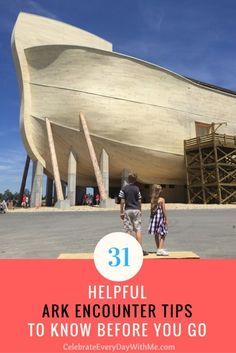 31 Helpful Ark Encounter Tips To Know Before You Go This is amazing! A must-see for the whole family! - - 31 Helpful Ark Encounter Tips to Know Before You Go Vacation Trips, Vacation Spots, Day Trips, Vacation Ideas, Vacation Destinations, Gatlinburg Vacation, Summer Vacations, Dream Vacations, Castaway Cay