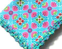 Plaid Fleece Blanket Beautiful Crochet by AllSylviasCreations
