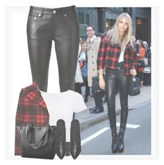 """""""Cara Delevingne"""" by maiiira-nair ❤ liked on Polyvore featuring Yves Saint Laurent, Lipsy and Michael Kors"""
